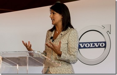 Gov. Nikki Haley will begin her trade mission Wednesday at Volvo's corporate headquarters in Gothenburg, Sweden. (Photo/Provided)