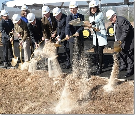 Gov. Nikki Haley, along with state and local officials, breaks ground with Giti Tire executives on a manufacturing plant in Lancaster County. (Photo/Provided)