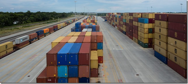 The S.C. State Ports Authority's inland port in Greer is expected to reach 100,000 rail lifts this calendar year. The agency is planning to pursue a second inland port facility in Dillon. (Photo/S.C. State Ports Authority)