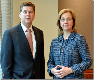 McNair Law Firm attorneys Andrew Melling and Celeste Jones, who represented Dr. Gibran Ameer in whistleblower suit. (Photo/Chuck Crumbo)