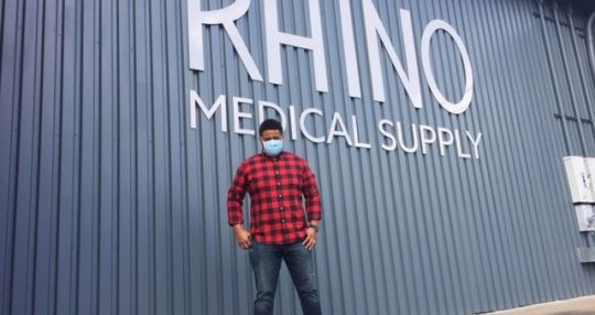 Rhino Medical Supply fulfilling PPE niche