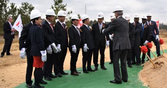 China Jushi breaks ground for $300M manufacturing plant