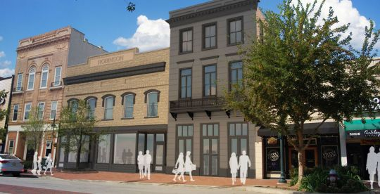 An adaptive reuse plan for the former Army Navy store on Main Street includes a seven-lane bowling alley. (Image/Provided)