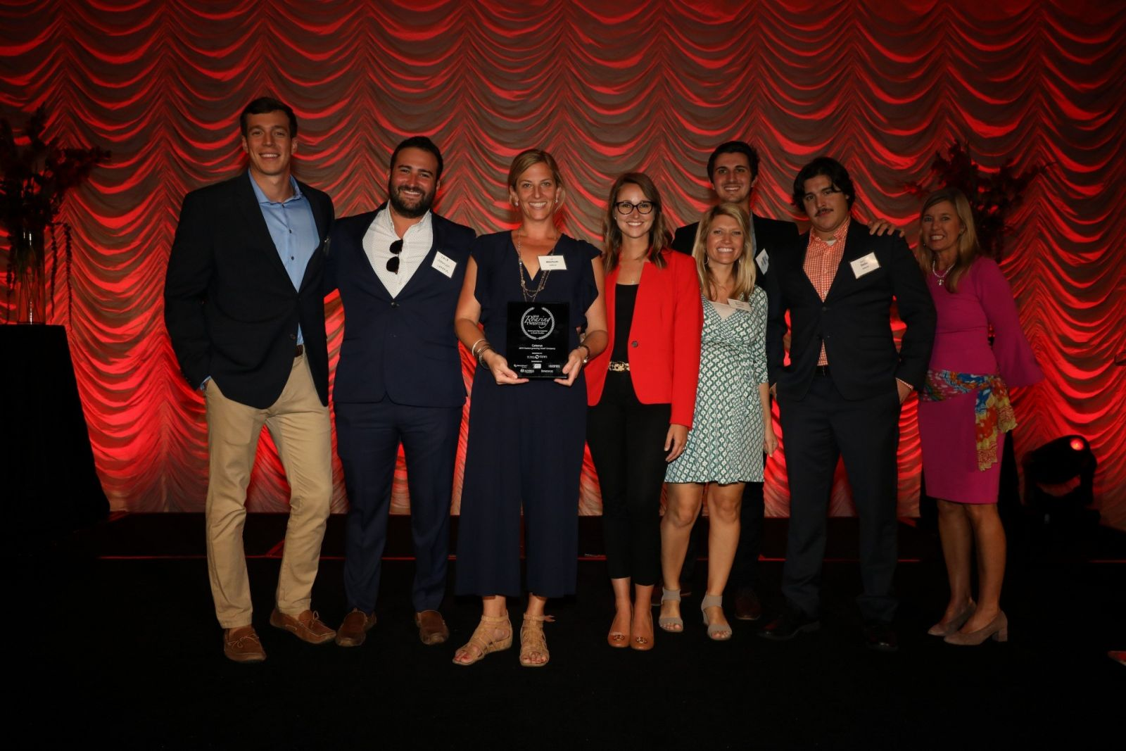 Winners of Roaring 20s recognition smile on Thursday. The annual SC Biz News event recognized the state's 20 fastest-growing companies in large and small categories. (Photo/Kim McManus)