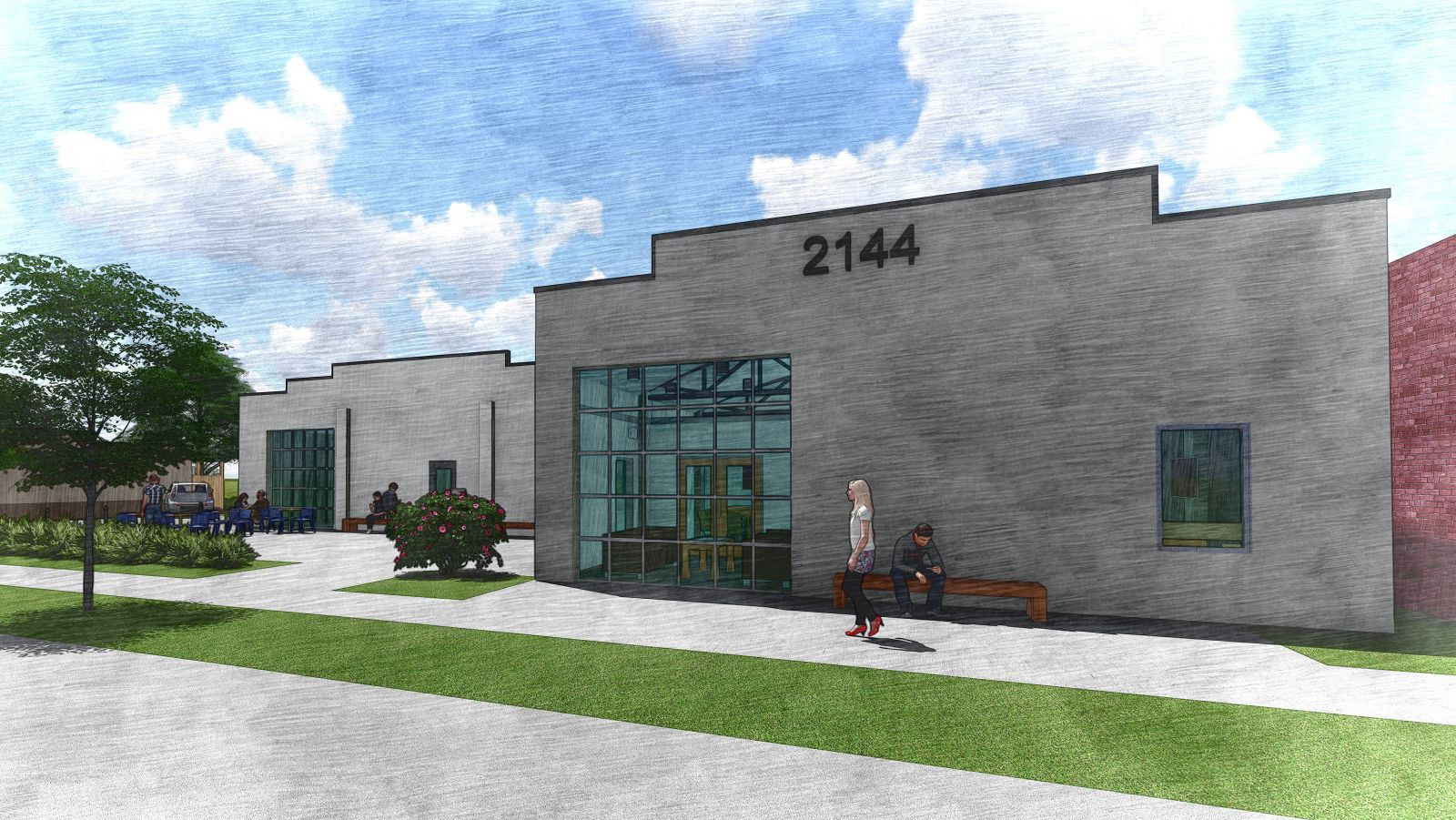 A rendering of the new offices of the Cason Group at 2144 Sumter St. (Image/Provided)