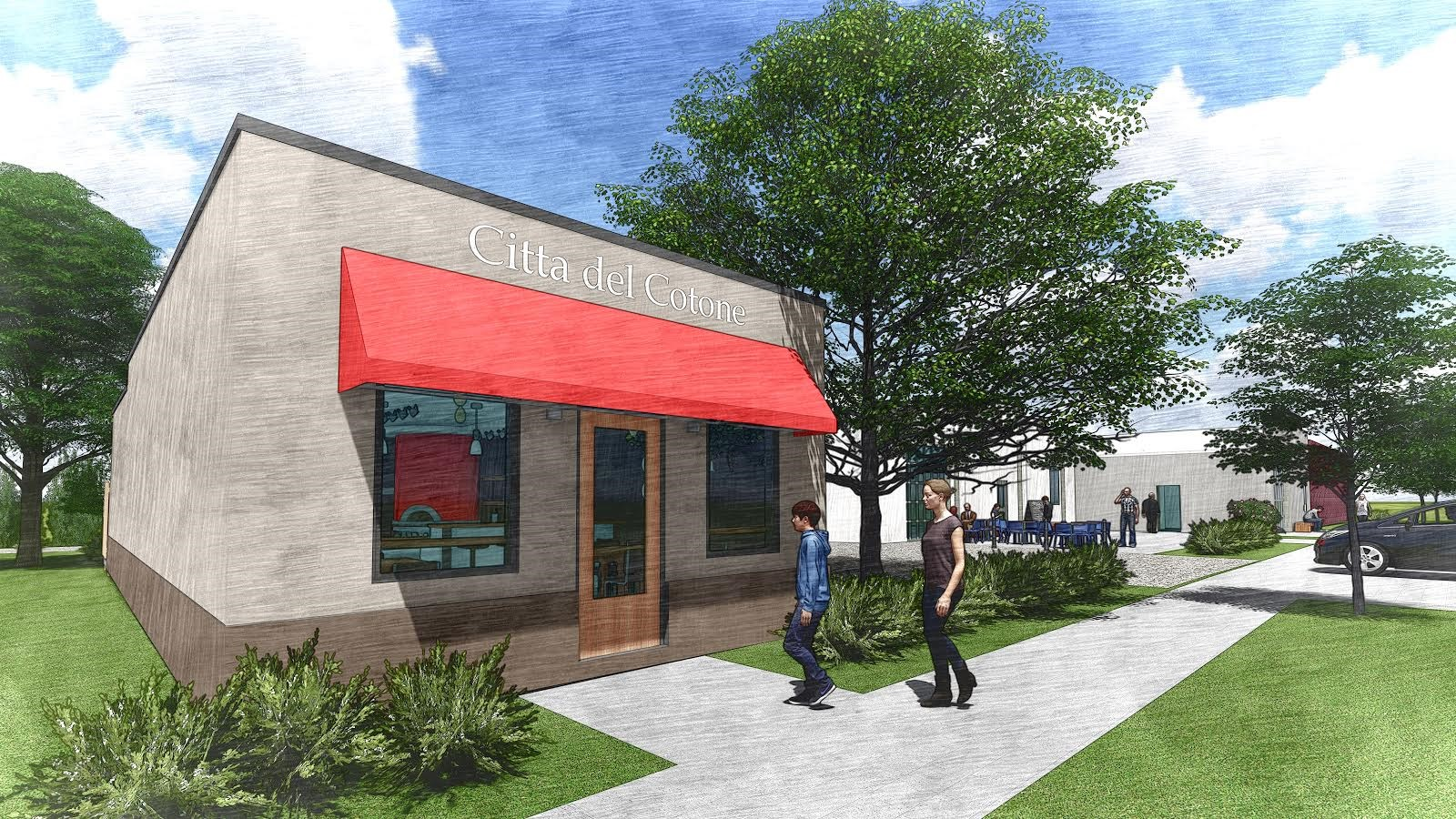 A rendering of Citta del Cotone, slated to open in September at 2150 Sumter St. in September. (Image/Provided)