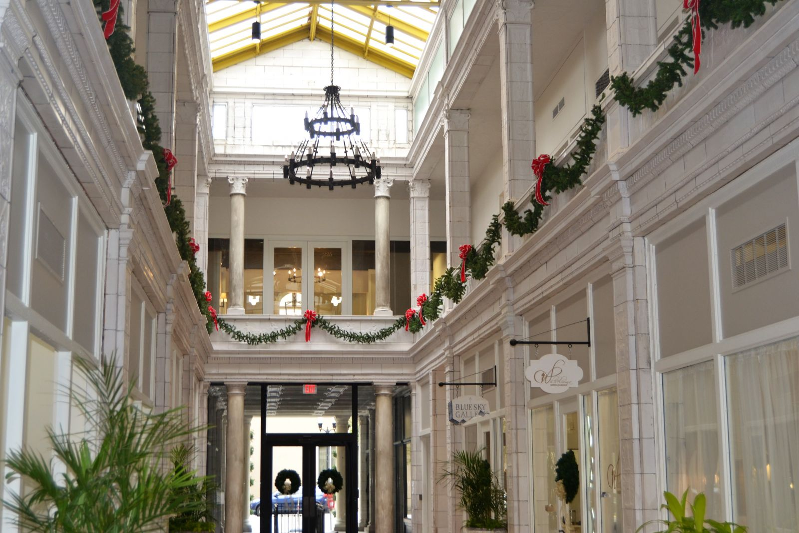 The Arcade Mall, decked out for the holidays, will hold a grand reopening to celebrate years of renovations today at 3 p.m. (Photo/Melinda Waldrop)