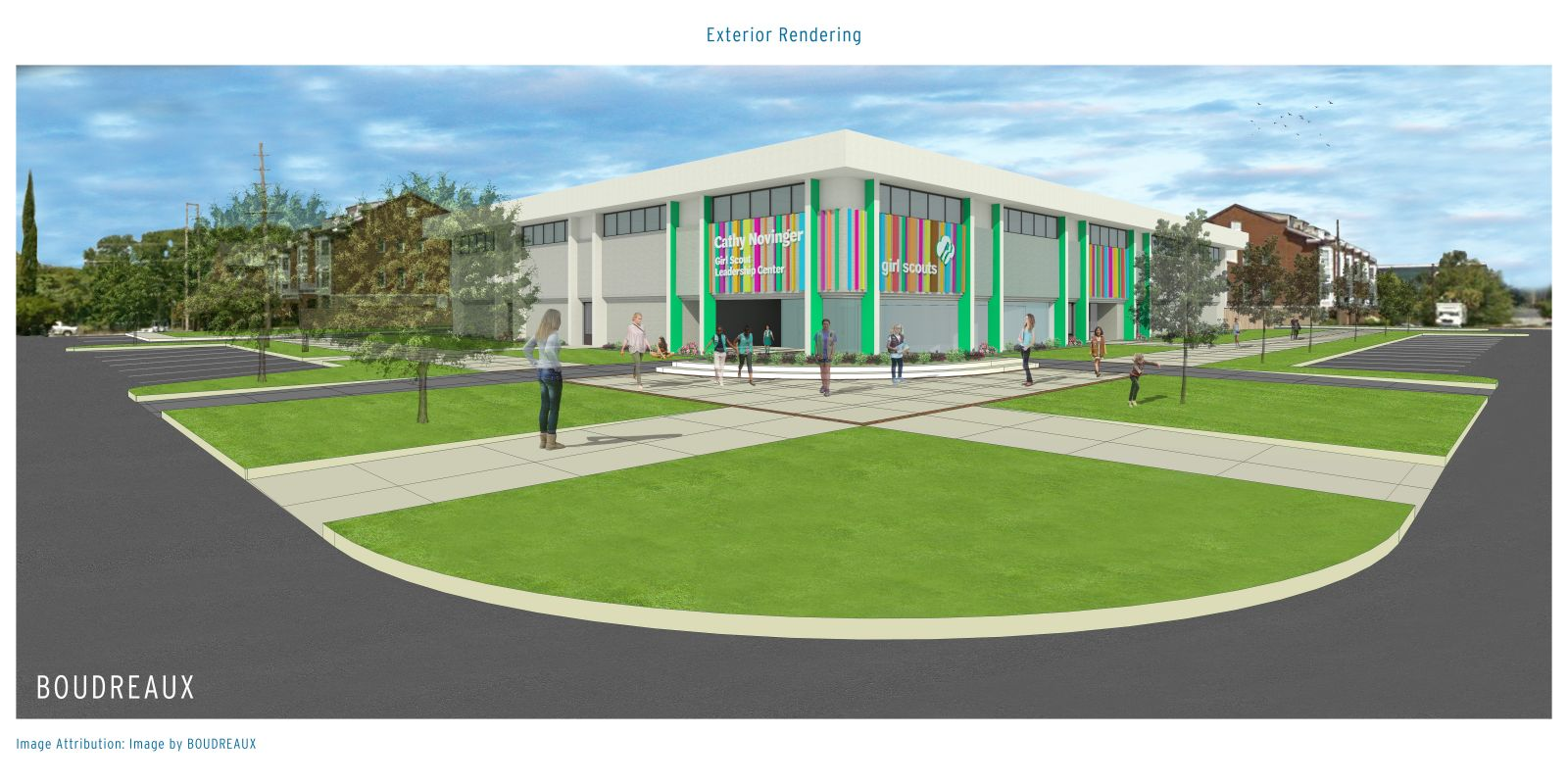 The Cathy Novinger Girl Scout Leadership Center is slated to open next summer. (Rendering/Provided)