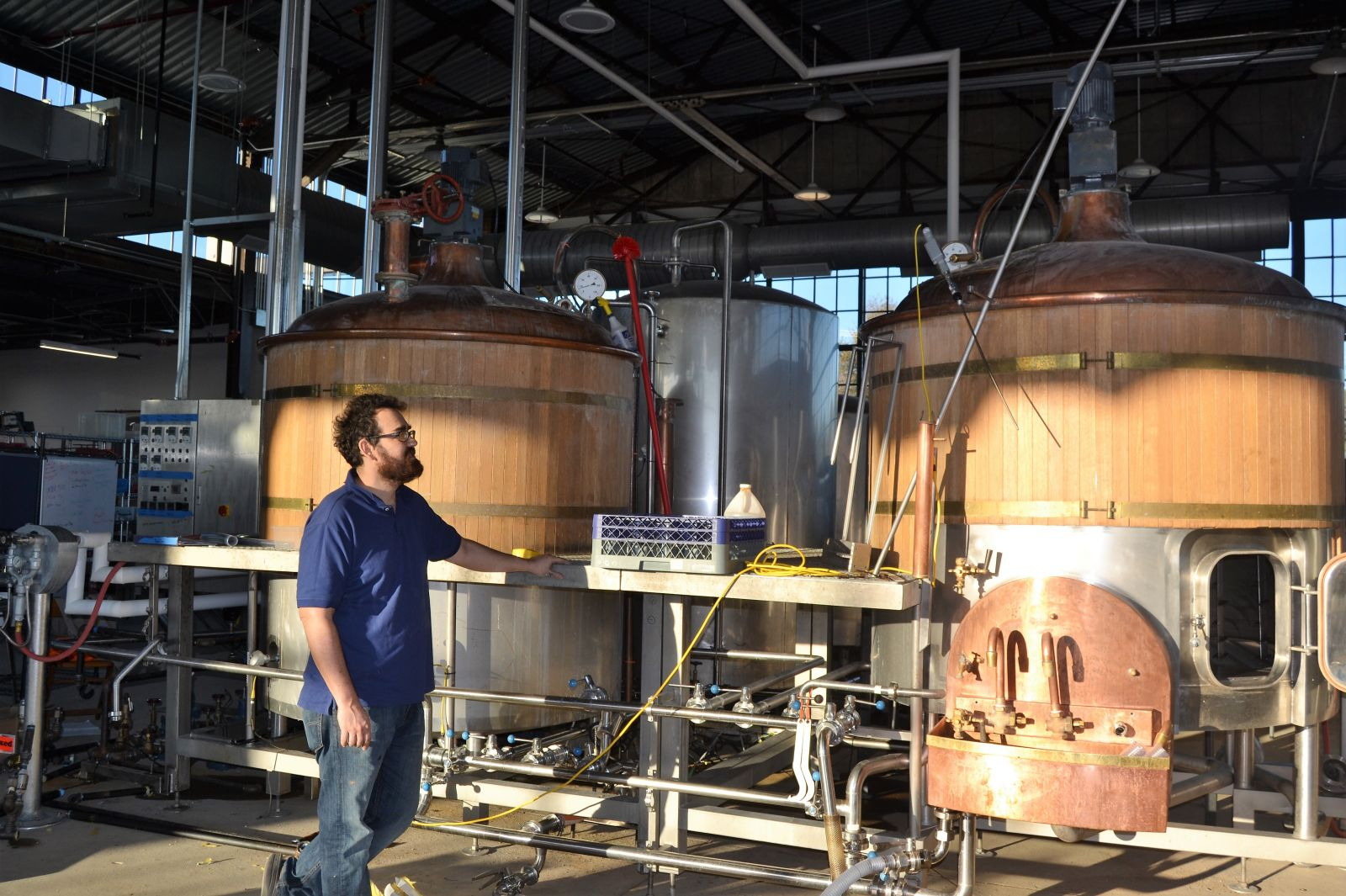 Kevin Varner hopes to open the second location of the Hunter-Gatherer brewery at the Curtiss-Wright Hangar on Dec. 21. (Photo/Melinda Waldrop)