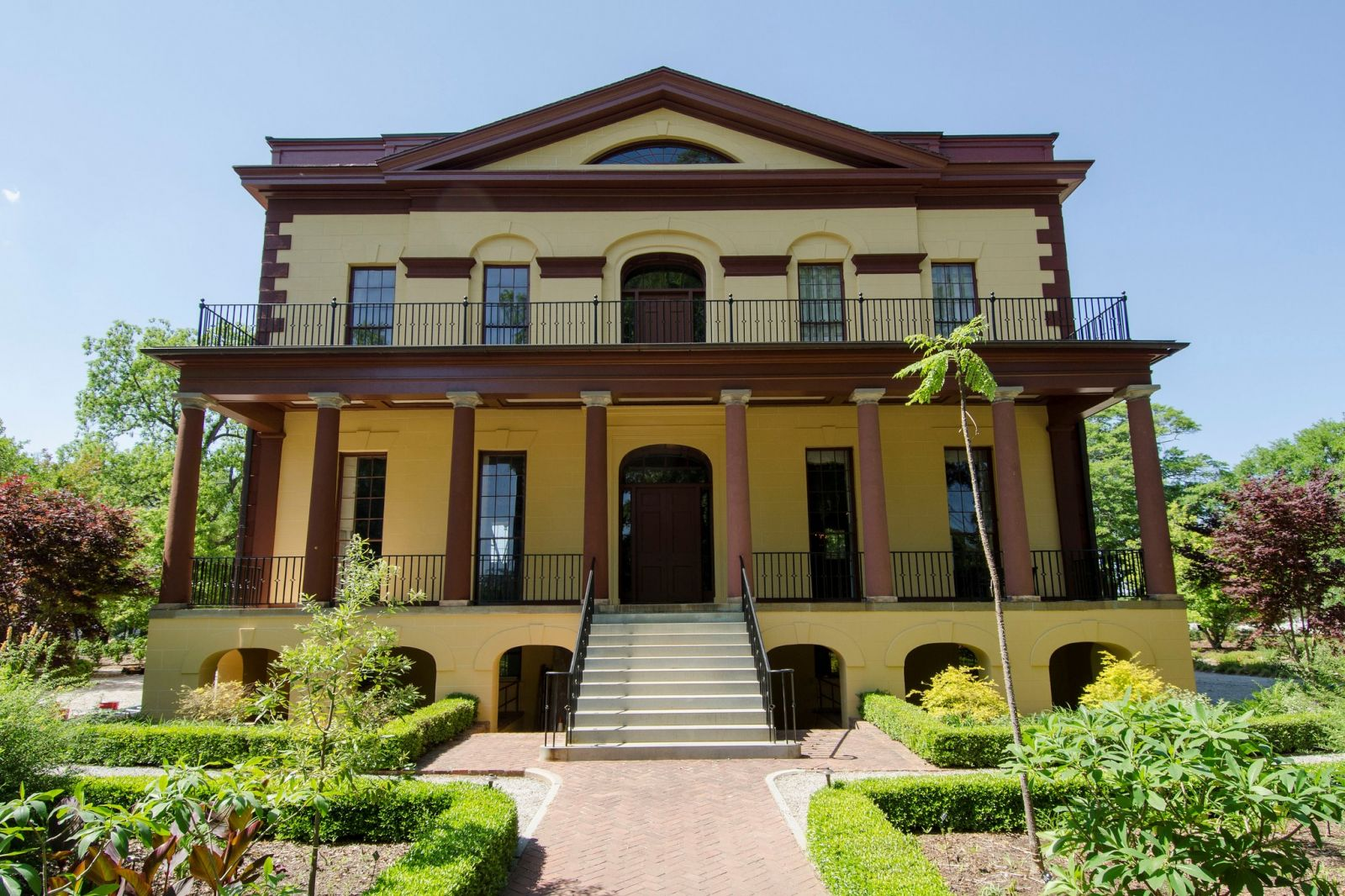 The Hampton-Preston Mansion underwent year-long renovations, including a re-painting of its exterior to a burnt ochre color representative of its antebellum past. (Photo/Historic Columbia)
