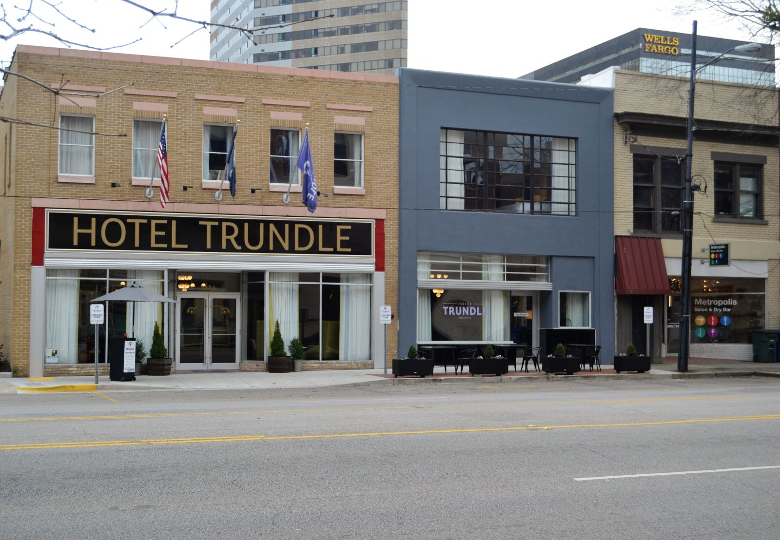 Hotel Trundle was once the site of three empty buildings at the corner of Taylor and Sumter streets before being renovated into the Main Street district's first boutique hotel in a project that took advantage of historic tax credits. (Photo/Melinda Waldrop)