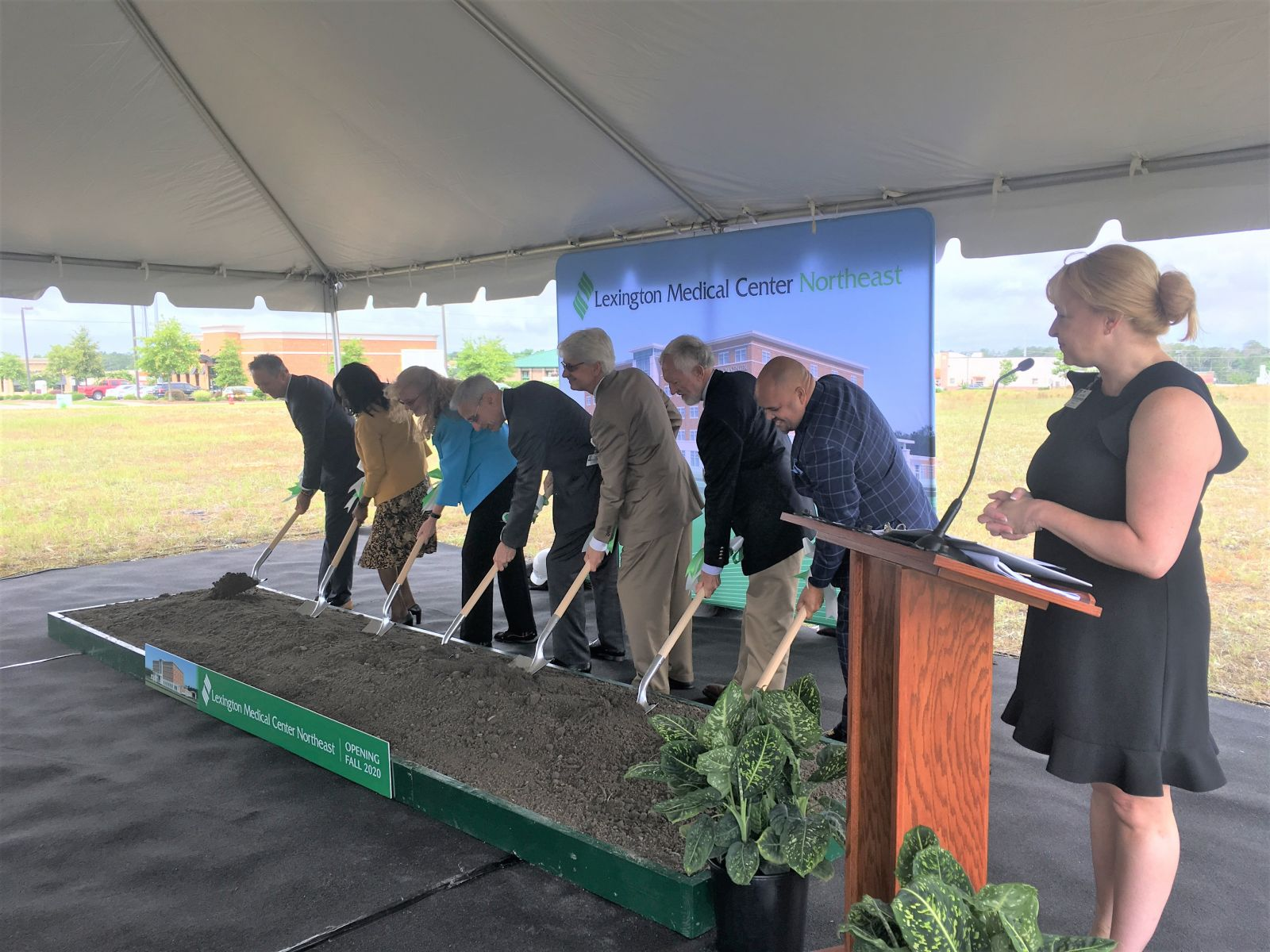 Lexington Medical Center officials break ground on a new outpatient center in Northeast Columbia (Photo/Renee Sexton)