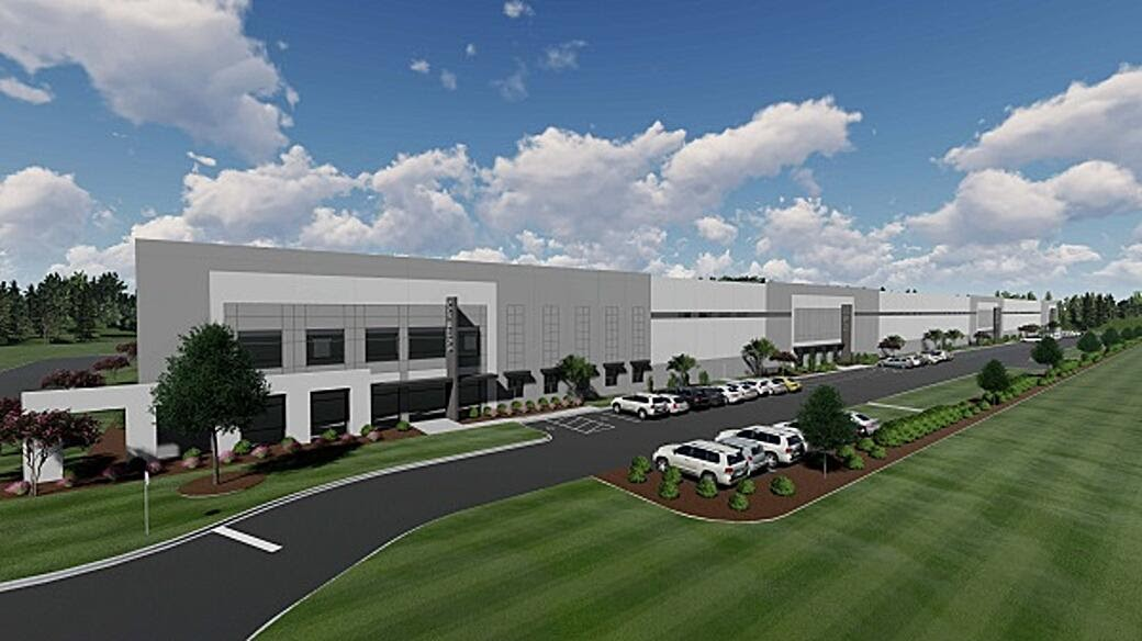 Midway Logistics VI has leased 68,040 square feet of space to Home Depot. Ground was broken on the speculative industrial development last October. (Rendering/Provided)
