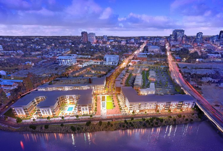 The 339-unit Sola Station project, which is under construction by Charleston-based The Beach Co., will offer residents an opportunity to live on the waterfront in a downtown setting. (Image/Provided)