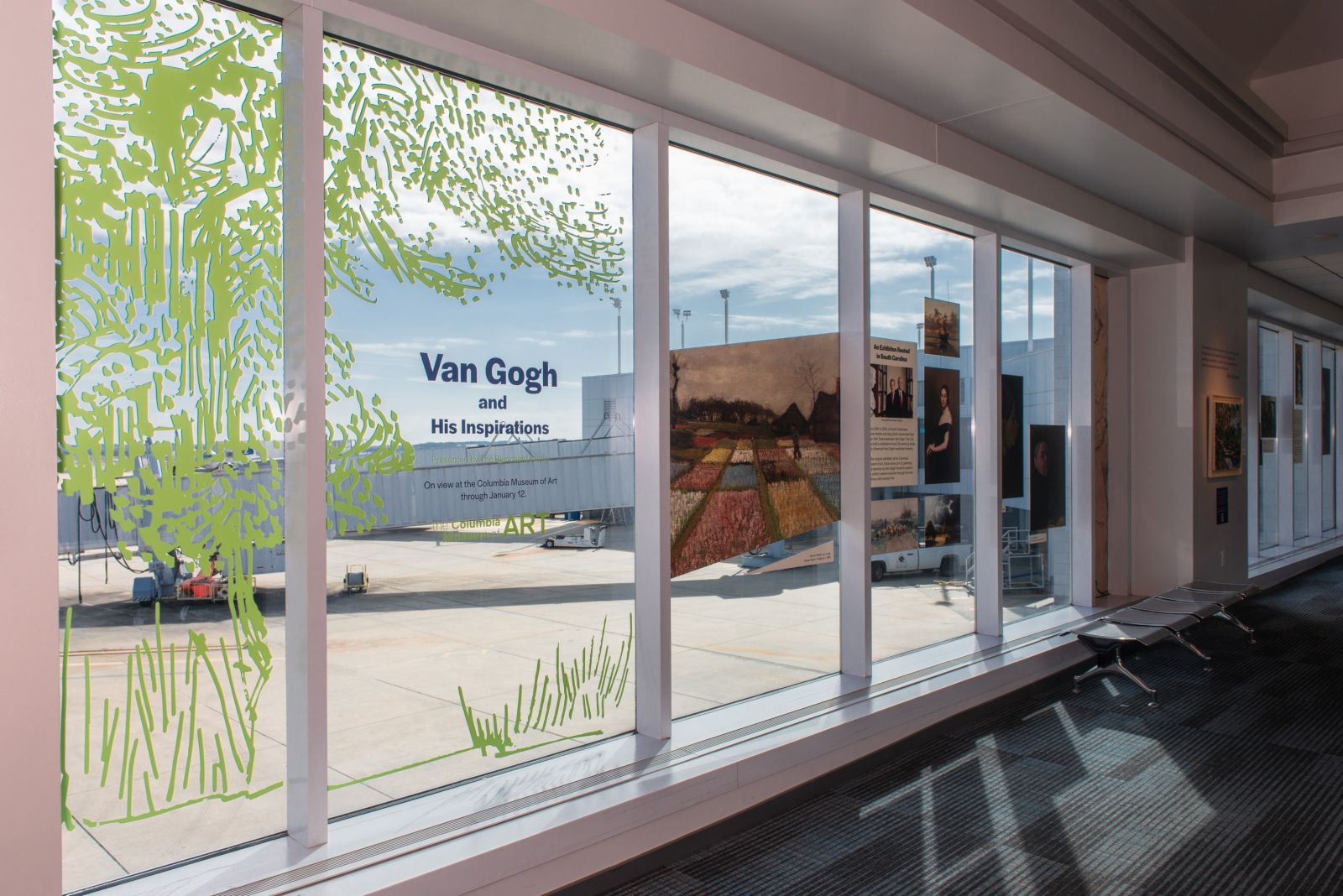 A pop-up van Gogh exhibition will greet CAE passengers until Jan. 12, 2020. (Photo/Provided)