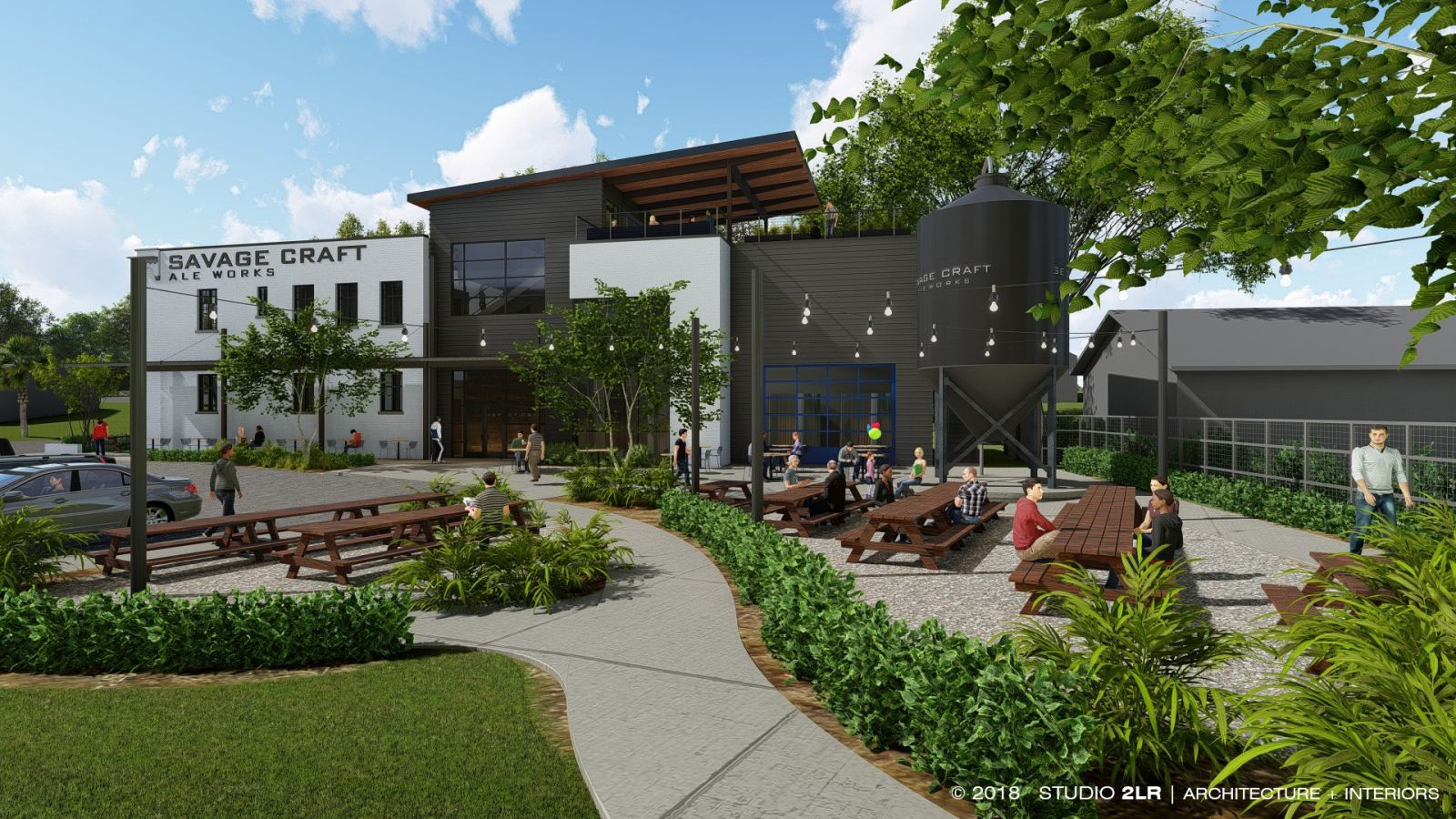 Savage Craft Brewery is slated to open in West Columbia by summer 2019. (Rendering/Provided)