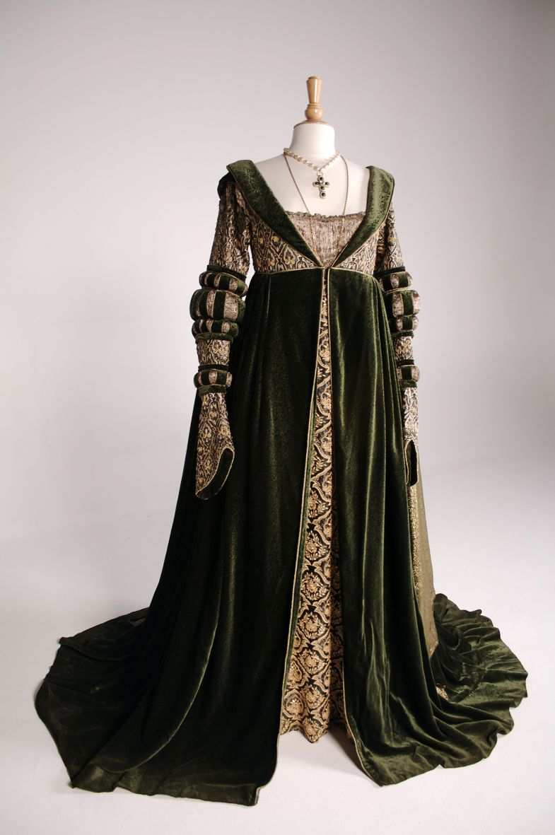 "A gown worn by Anjelica Huston in ""Ever After,"" a 1998 retelling of Cinderella. (Photo/Provided)"