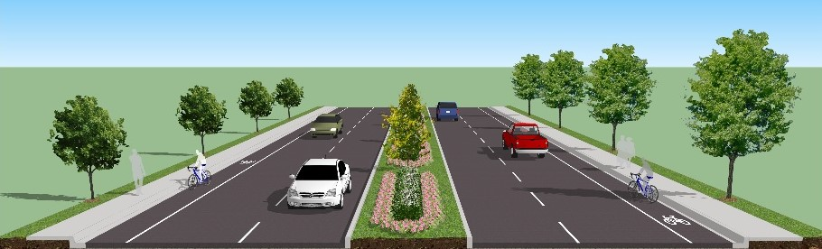 Streetscaping along Decker Boulevard is one option Richland County is considering in a transportation improvement project for the busy commercial corridor. (Image/Provided)