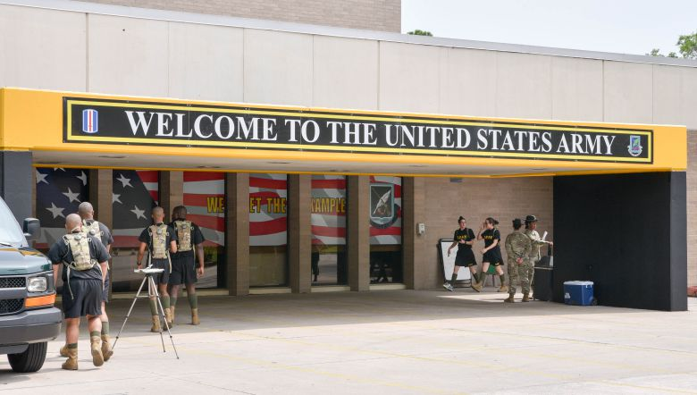The reception center at Fort Jackson is where all new soldiers are processed before being shipped to their basic training units. (Photo/Chuck Crumbo)