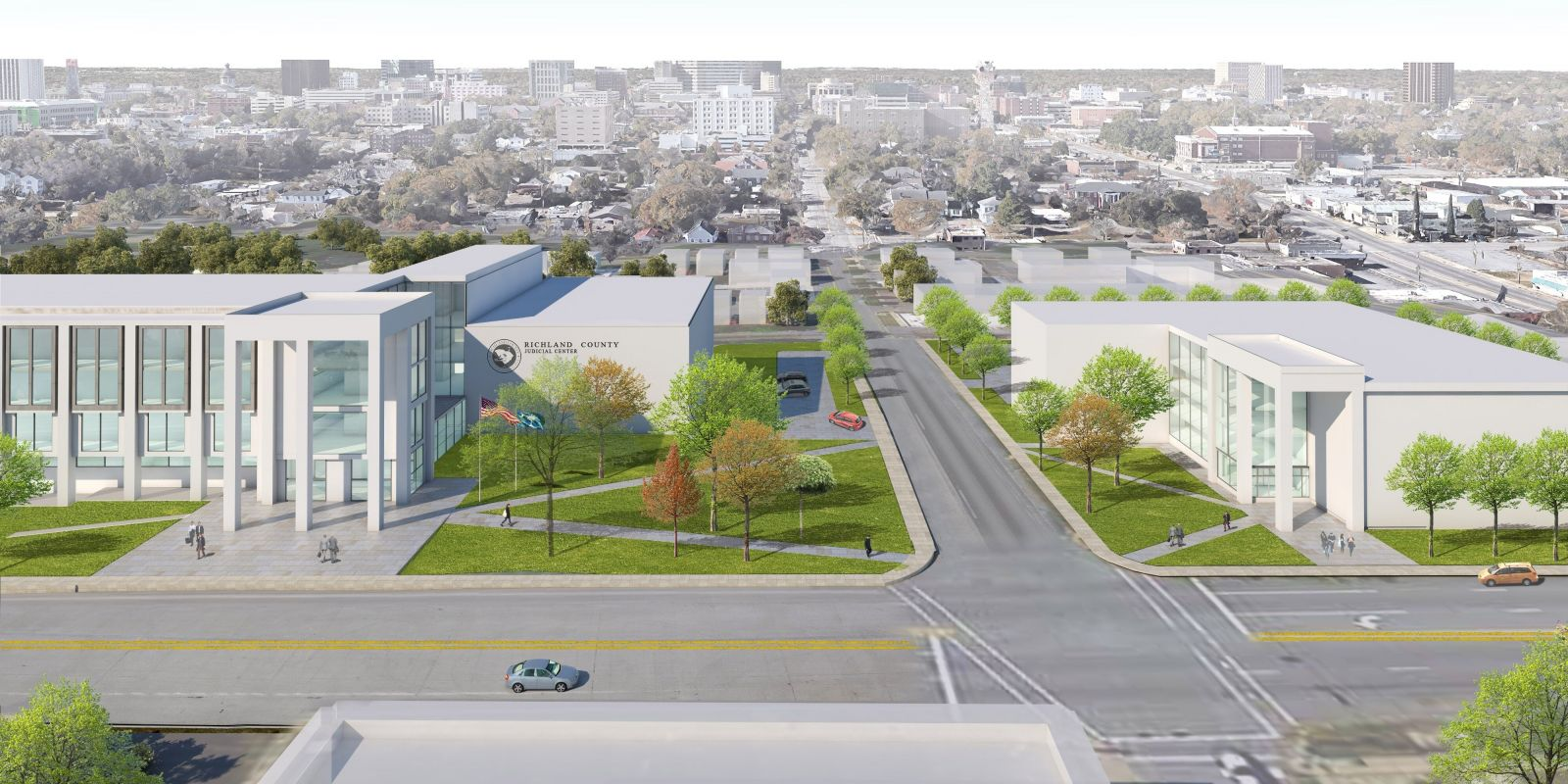 A rendering of the proposed new courthouse and judicial center at 2020 Hampton St. (Image/Provided)