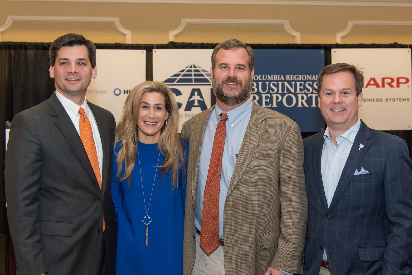 Sen. Shane Massey (from left) and Reps. Beth Bernstein, Kirkman Finlay and Nathan Ballentine addressed V.C. Summer and education questions at Thursday's Power Breakfast Series event. (Photo/Kathy Allen)