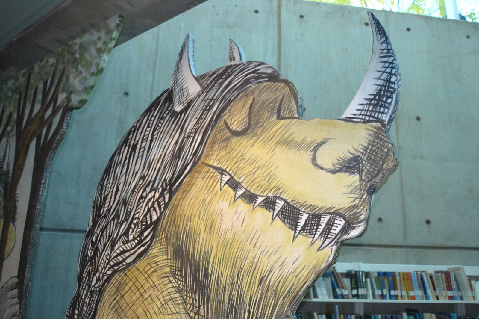 The library's iconic Where the Wild Things Are characters now parade on the garden level. (Photo/Melinda Waldrop)