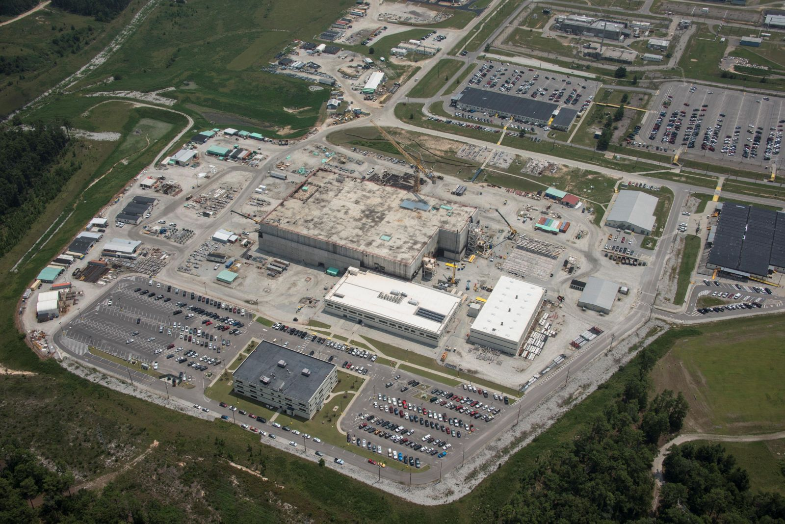 The mixed-oxide fuel plant under construction at Savannah River Site has been targed for elimination in President Trump's budget proposal. (Photo/U.S. Department of Energy)
