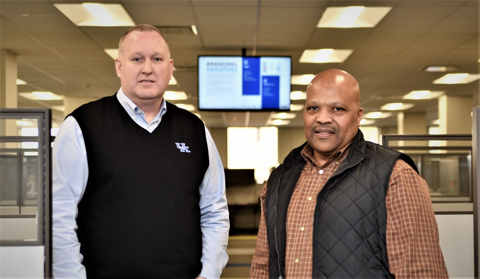 Seibels executives Dester Terry (left) and Clarence Lee say meticulous planning paid off when Hurricane Matthew struck last October. (Photo/Chuck Crumbo)