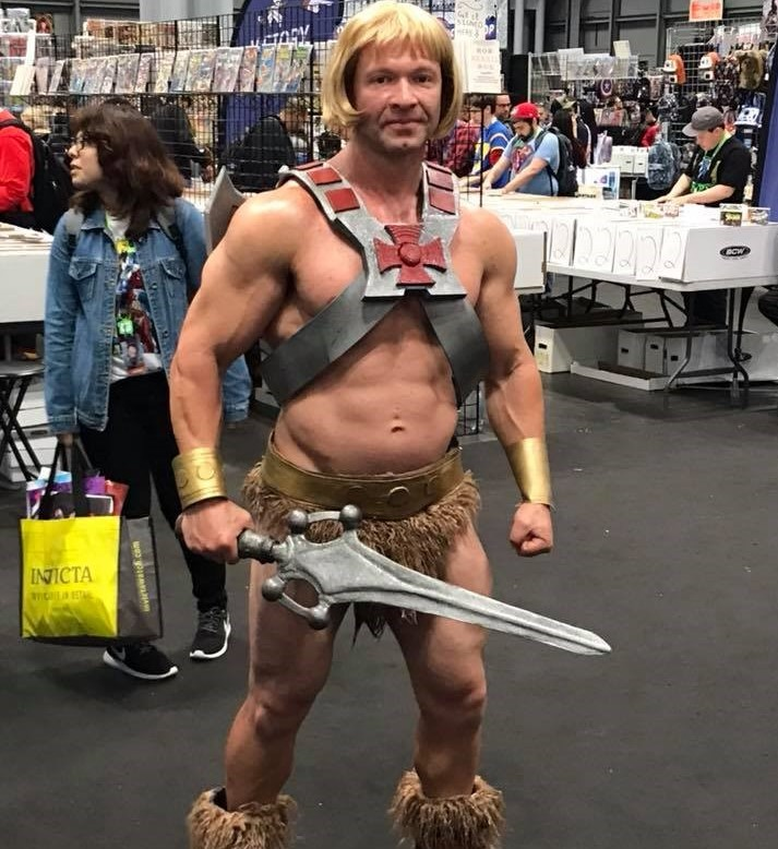 Some ComicCon attendees participate in cosplay, such as this He-Man. (Photo/Provided)