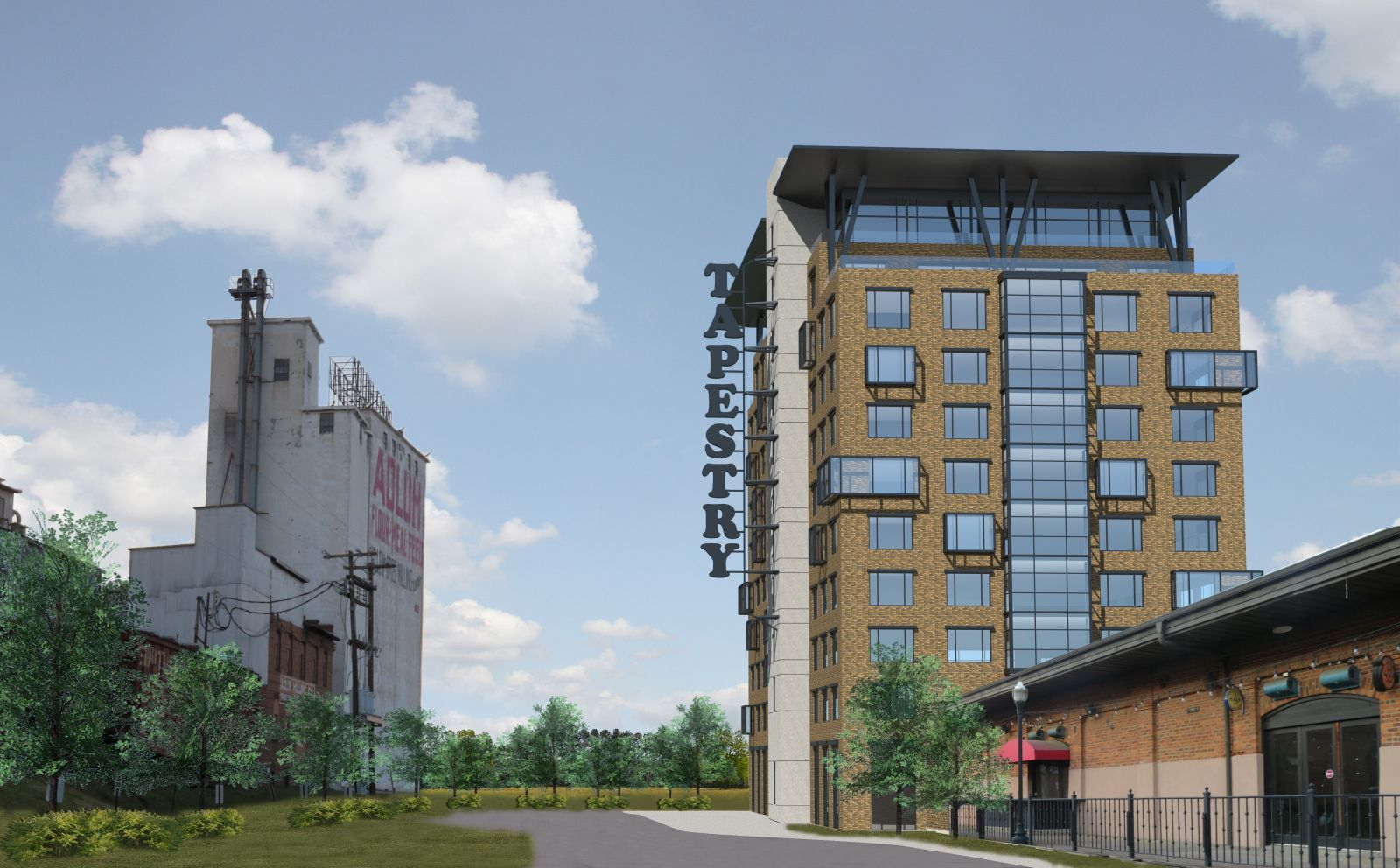 A rendering of the proposed Hotel Anthem at 800 Gervais St., an 11-story hotel that would be part of the Hilton Tapestry boutique brand. (Rendering provided by Kollin Altomare Architects)