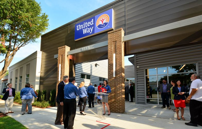 Three previously vacant warehouses were connected and converted into the United Way of the Midlands headquarters. (Photo/Chuck Crumbo)